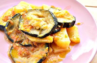 Замороженные кабачки с овощами (пошаговый фото рецепт)