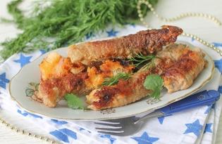 Крученики с сыром и изюмом (пошаговый фото рецепт)