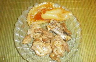 Куриные окорочка, жаренные на сковороде с соевым соусом и приправами (пошаговый фото рецепт)