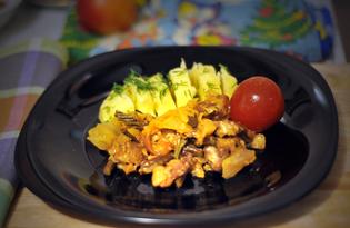 Свинина с папоротником и свежей капустой (пошаговый фото рецепт)