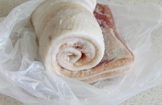 Соленое сало в морозилке (пошаговый фото рецепт)