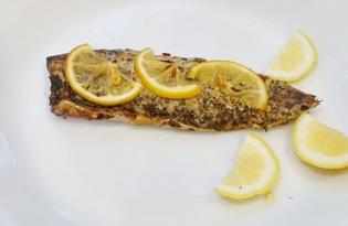 Скумбрия с лимоном в духовке (пошаговый фото рецепт)