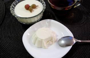 Сметанное желе (пошаговый фото рецепт)