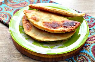 Чебуреки с картофелем (пошаговый фото рецепт)