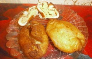 Жаренные в масле пирожки с гороховым пюре (пошаговый фото рецепт)