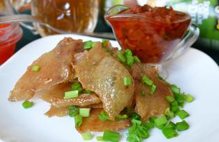 Чичаррон из куриной шкурки (пошаговый фото рецепт)