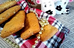 Медовое печенье с орехами, маком и кунжутом (пошаговый фото рецепт)