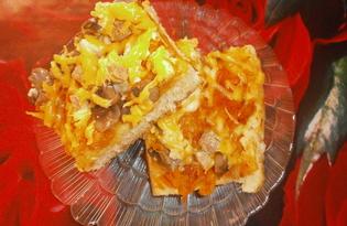 Пицца с маринованными грибами и вареной свининой (пошаговый фото рецепт)