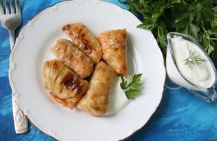 Голубцы из квашеной капусты (пошаговый фото рецепт)