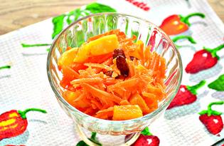 Салат с морковью, апельсином и изюмом (пошаговый фото рецепт)
