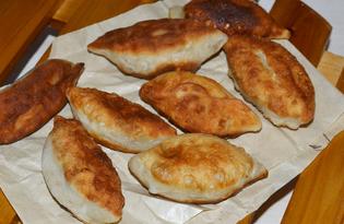 Пирожки на кефире с мясом (пошаговый фото рецепт)