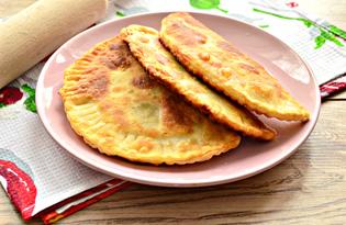 Чебуреки на кефире с мясной начинкой (пошаговый фото рецепт)