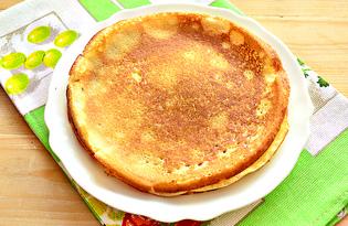 Сладкие блины на кипятке (пошаговый фото рецепт)