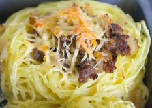 Гнезда из макарон с фаршем в духовке (пошаговый фото рецепт)