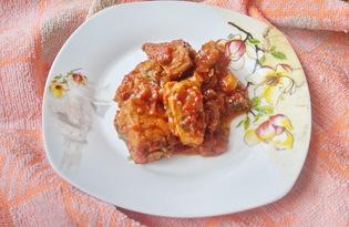 Мясо тушеное в томатном соусе (пошаговый фото рецепт)