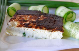 Сливочный омлет с зеленым луком (пошаговый фото рецепт)