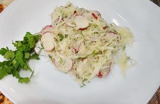 Салат из капусты и редиски (пошаговый фото рецепт)
