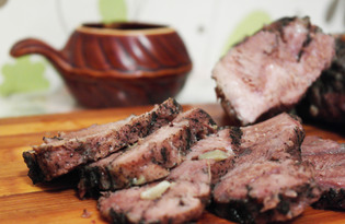 Запеченное мясо свинины в фольге (пошаговый фото рецепт)