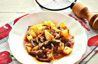 Говядина с картофелем в горшочках (пошаговый фото рецепт)