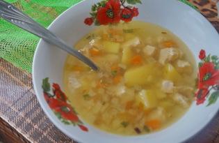 Легкий куриный суп (пошаговый фото рецепт)