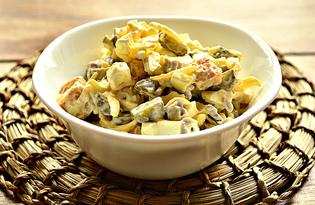 Салат с говядиной с сухариками (пошаговый фото рецепт)