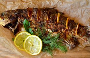 Рыба запечённая в аджике (пошаговый фото рецепт)