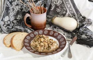 Белые баклажаны с курицей и кольраби (пошаговый фото рецепт)