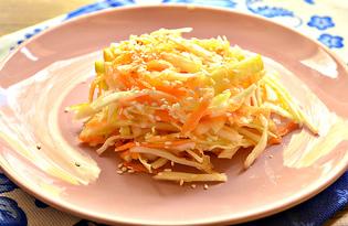 Салат с капустой, морковью и яблоком (пошаговый фото рецепт)