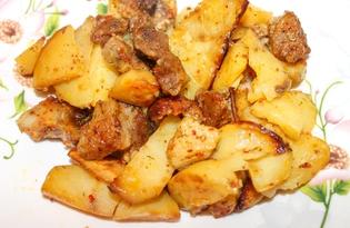 Жаркое из свинины с картофелем в духовке (пошаговый фото рецепт)