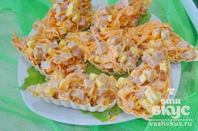 Вафельные тарталетки для салатов