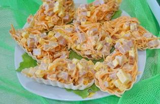 Салат в лодочках (пошаговый фото рецепт)