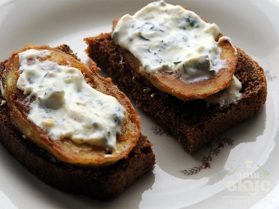 Бутерброды с жареными баклажанами
