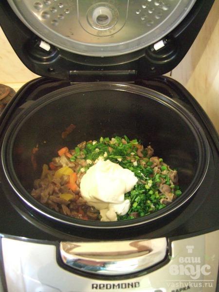 Субпродукты с овощами в мультиварке