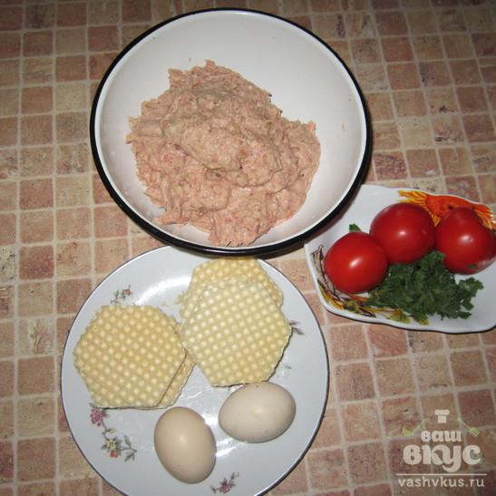 Ленивые отбивные с сыром и помидорами