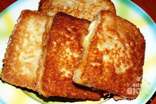 Горячие гренки-бутерброды