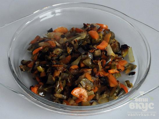 Рассольник с грибами вегетарианский