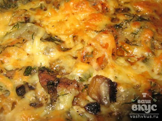 Пицца со свежими шампиньонами