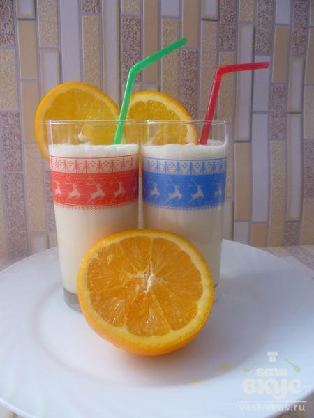 Апельсиновый молочный коктейль