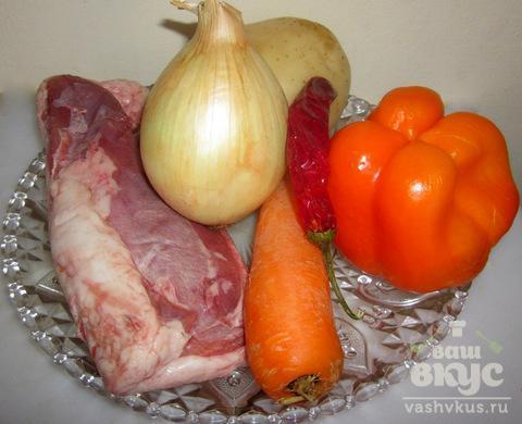 Рождественский гусь с овощами