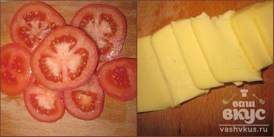 Куриные бедра, фаршированные сыром и помидорами