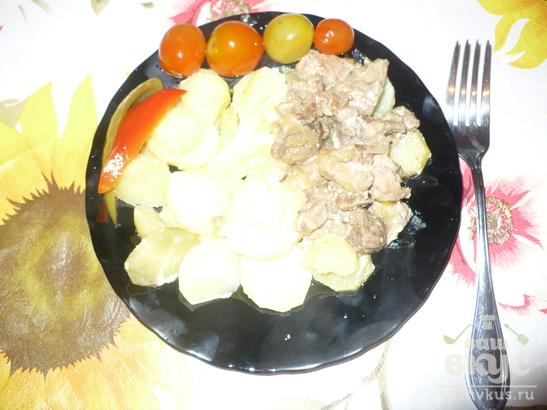 Картофель с мясом под майонезом