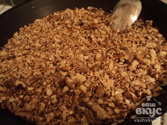 Овсяные хрустяшки с орешками