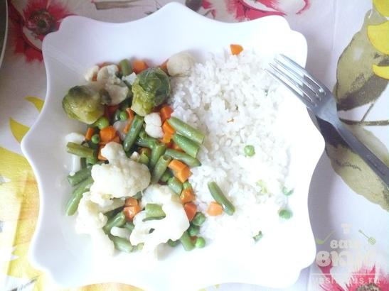 Весенняя смесь с рисом