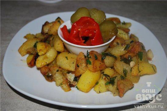 Картофель по селянски в мультиварке рецепт с фото