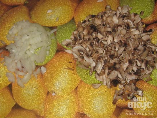 Гречаники с грибами.