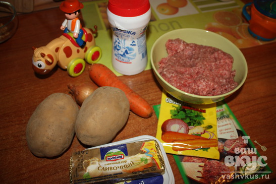 Сырный суп-пюре с фрикадельками