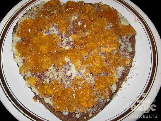 """Торт к празднику """"Для влюбленных"""""""