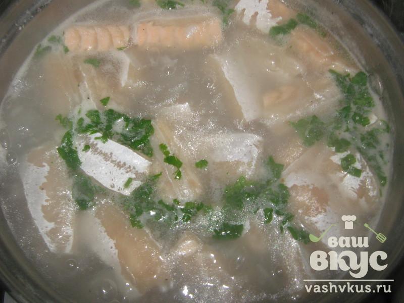 Суп из обрези сёмги рецепт