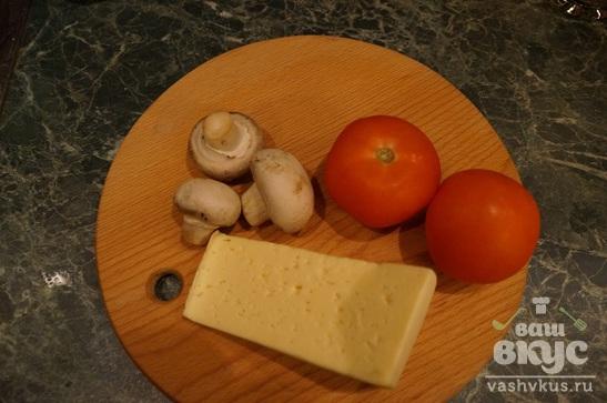 Тилапия с шампиньонами и сыром