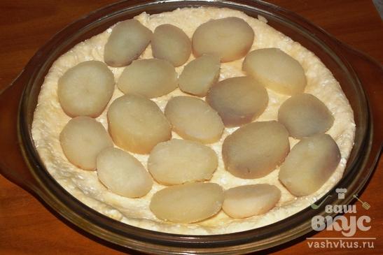 Открытый рыбный пирог